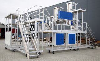 Store konstruktioner i aluminium i Blaaholms nye produktionshal