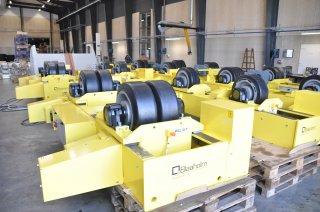 Fit-up systemer og rullebukke for FrancEoles tårnproduktion