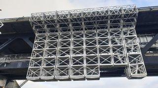 Platform til malerarbejdet på Øresundsbroen skal optimeres af Blaaholm Industry